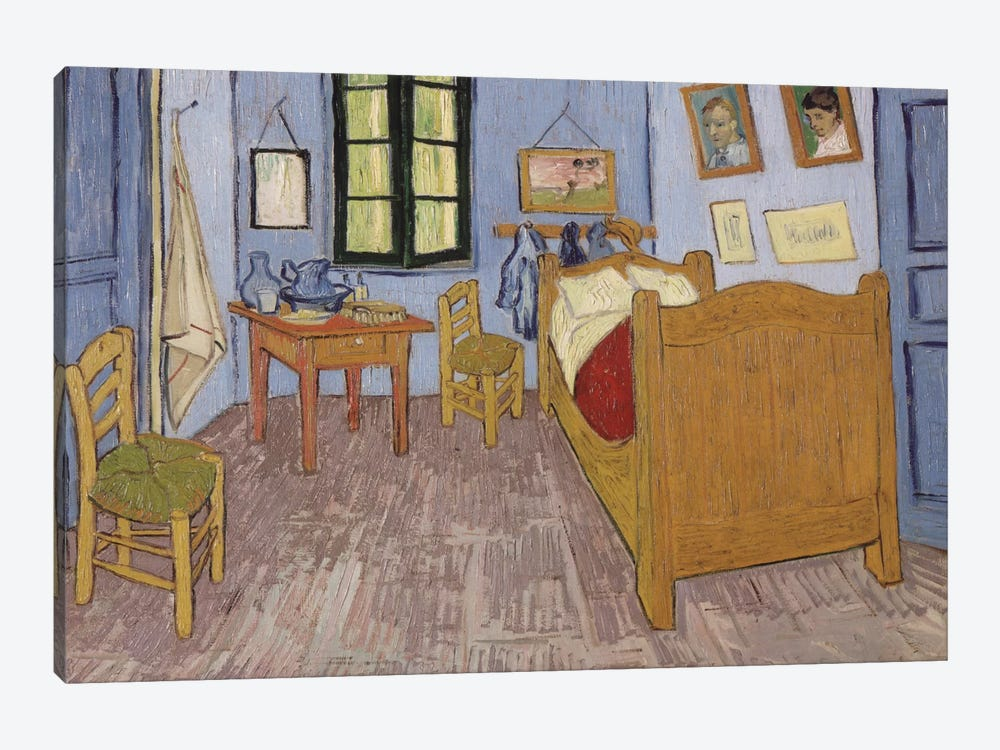 Bedroom In Arles, September 1889 by Vincent van Gogh 1-piece Canvas Art Print