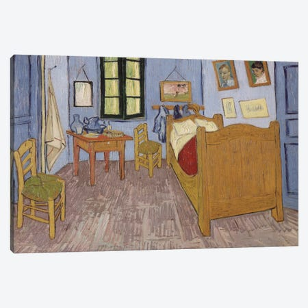 Bedroom In Arles, Third Version, September 1889 (Musee d'Orsay) Canvas Print #1014} by Vincent van Gogh Canvas Art