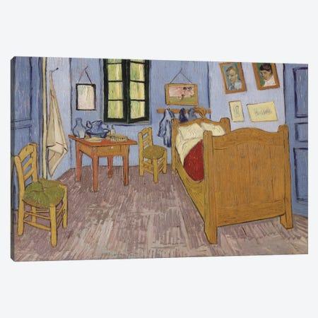 Bedroom In Arles, Third Version, September 1889 (Musee d'Orsay) Canvas Print #1014} by Vincent van Gogh Canvas Art