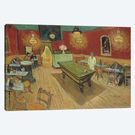 The Night Café, 1888 Canvas Print #1023} by Vincent van Gogh Canvas Wall Art