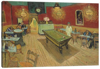 The Night Café, 1888 by Vincent van Gogh Canvas Wall Art