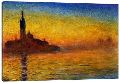 Twilight in Venice by Claude Monet Canvas Print