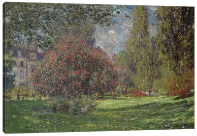 Landscape, The Parc Monceau 1876 by Claude Monet Art Print