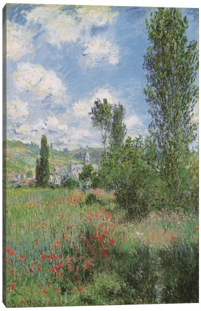 View of Vetheiul 1880 by Claude Monet Canvas Art