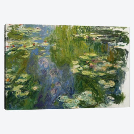 Le Bassin Aux Nympheas Canvas Print #1044} by Claude Monet Canvas Art Print