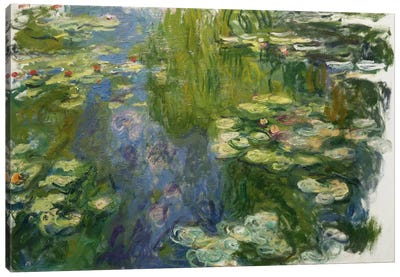 Le Bassin Aux Nympheas by Claude Monet Canvas Art Print