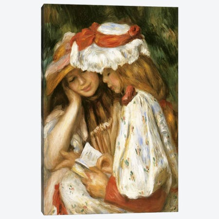 Two Girls Reading Canvas Print #1046} by Claude Monet Canvas Print