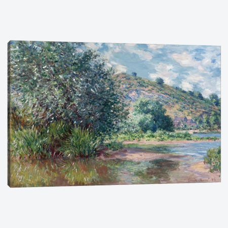 Paysage a Port-Villez 1885 Canvas Print #1053} by Claude Monet Canvas Art Print