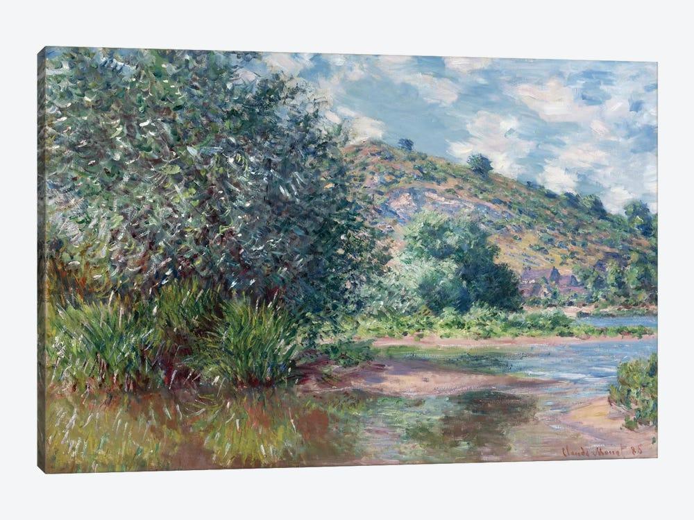 Paysage a Port-Villez 1885 by Claude Monet 1-piece Canvas Wall Art