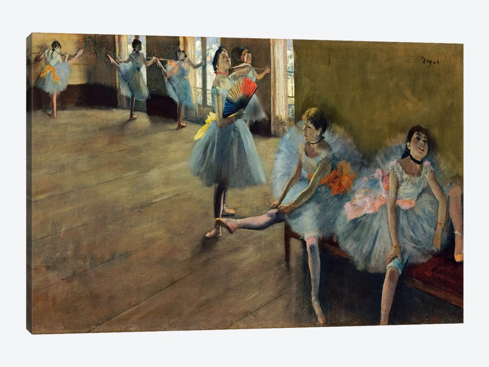 Dancers by Rail 1-piece Canvas Wall Art