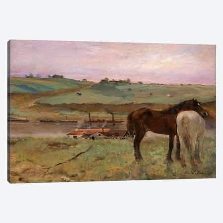 Horses in a Meadow, 1871 Canvas Print #1061} by Edgar Degas Canvas Wall Art