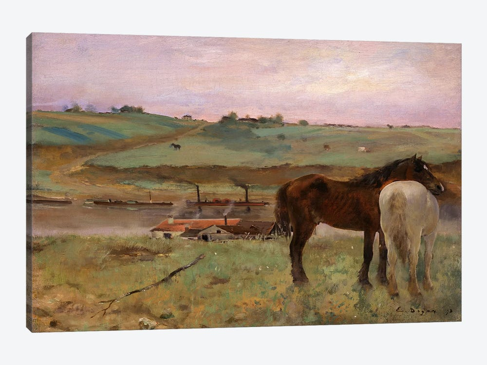 Horses in a Meadow, 1871 by Edgar Degas 1-piece Art Print