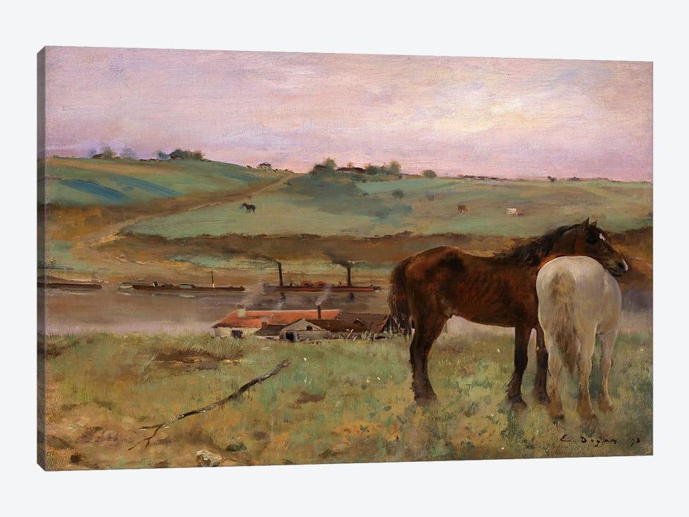 Horses in a Meadow, 1871 by Edgar Degas 1-piece Art Print