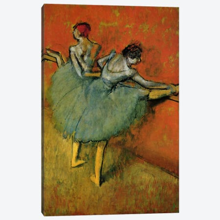 Tanzerinnen an der Stange, 1888 Canvas Print #1062} by Edgar Degas Canvas Wall Art