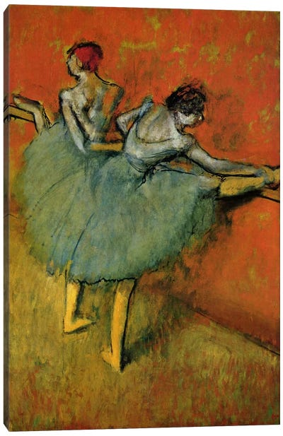 Tanzerinnen an der Stange, 1888 by Edgar Degas Canvas Wall Art