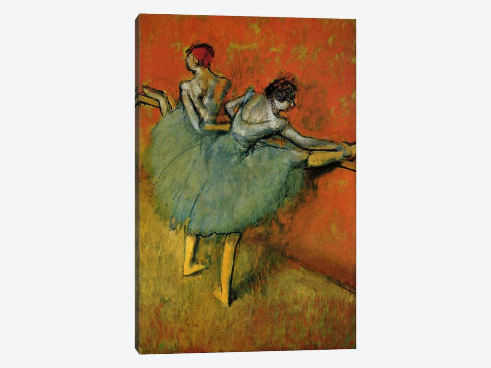 Tanzerinnen an der Stange, 1888 by Edgar Degas 1-piece Canvas Artwork