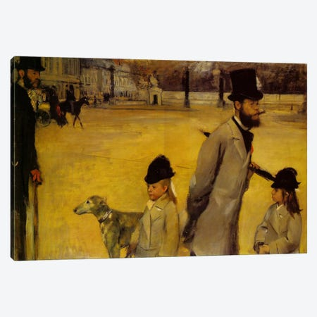 Place de la Concorde, 1875 Canvas Print #1063} by Edgar Degas Canvas Artwork