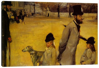 Place de la Concorde, 1875 by Edgar Degas Canvas Artwork