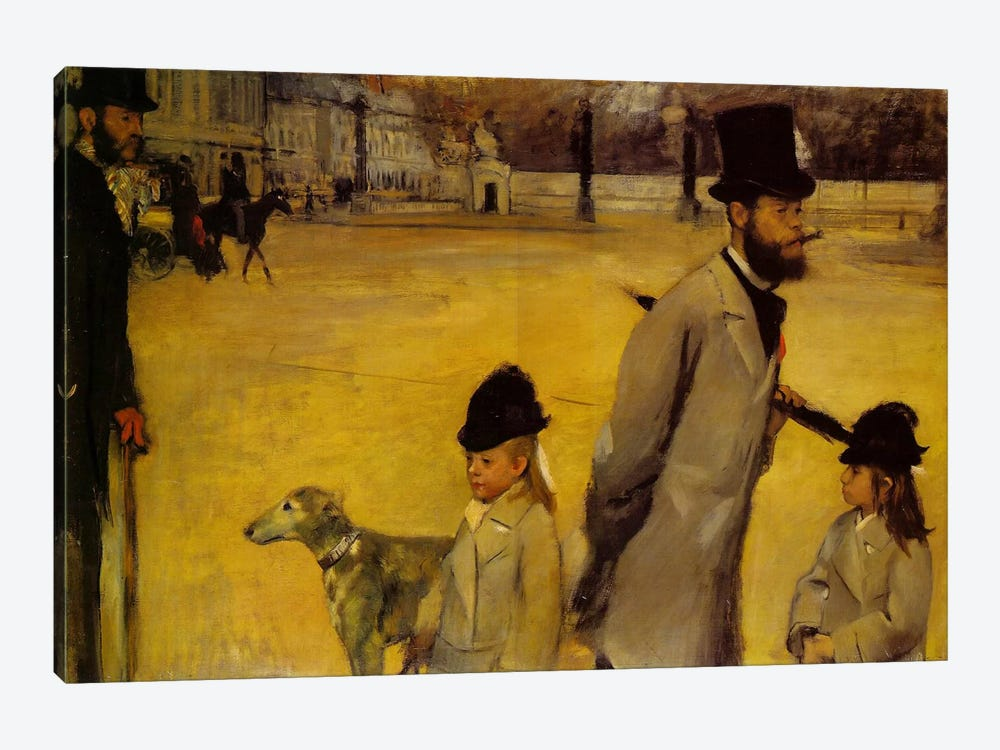Place de la Concorde, 1875 by Edgar Degas 1-piece Art Print