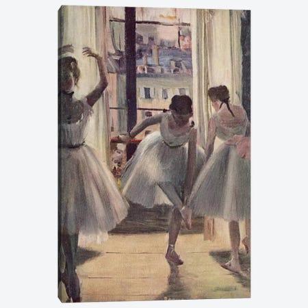 Drei Tanzerinnen in Einem Ubungssaal Canvas Print #1064} by Edgar Degas Canvas Print