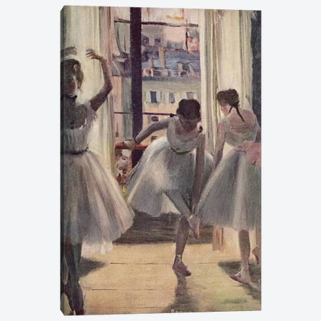 Drei Tanzerinnen in Einem Ubungssaal Canvas Print #1064} by Edgar Degas Canvas Print