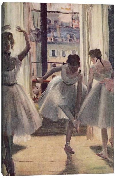 Drei Tanzerinnen in Einem Ubungssaal Canvas Art Print