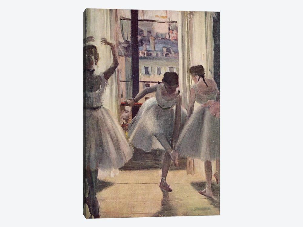 Drei Tanzerinnen in Einem Ubungssaal by Edgar Degas 1-piece Canvas Wall Art