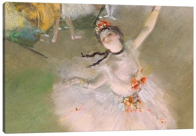 Dancer on The Stage by Edgar Degas Canvas Print