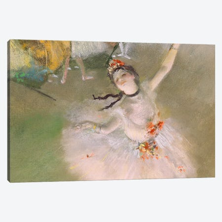 Dancer on The Stage Canvas Print #1066} by Edgar Degas Canvas Print