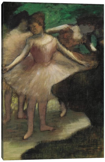 Trois Danseuses En Rose¸ 1886 by Edgar Degas Canvas Art Print
