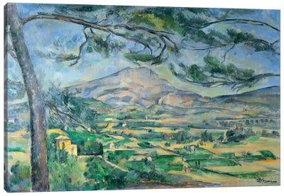 Mont Sainte-Victoire with Large Pine-Tree 1887 Canvas Art Print