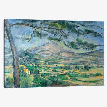 Mont Sainte-Victoire with Large Pine-Tree 1887 Canvas Print #1075} by Paul Cezanne Canvas Artwork
