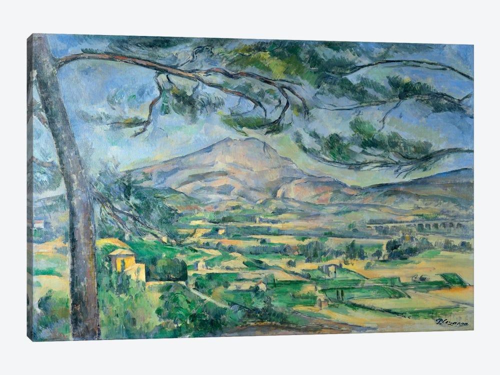 Mont Sainte-Victoire with Large Pine-Tree 1887 by Paul Cezanne 1-piece Canvas Artwork