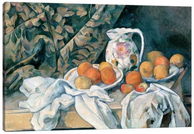 Still Life with a Curtain 1895 Canvas Art Print