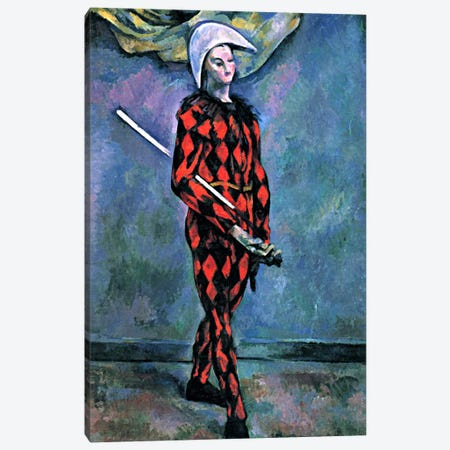 Harlequin Canvas Print #1077} by Paul Cezanne Canvas Wall Art