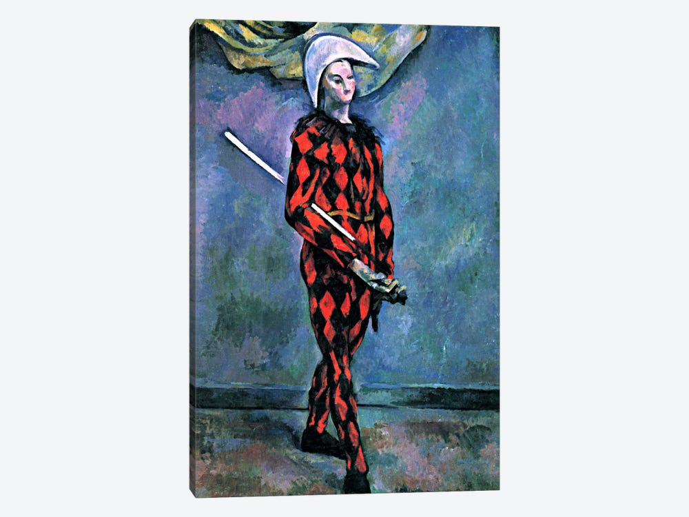 Harlequin by Paul Cezanne 1-piece Canvas Art