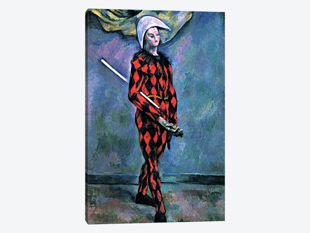 Harlequin by Paul Cezanne 1-piece Canvas Art