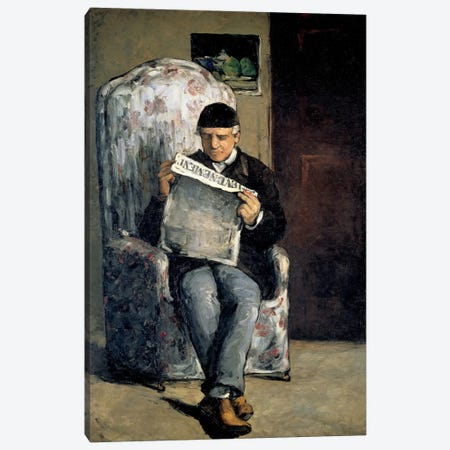 The Artist's Father (Reading L'Evenement) 1866 Canvas Print #1078} by Paul Cezanne Canvas Print