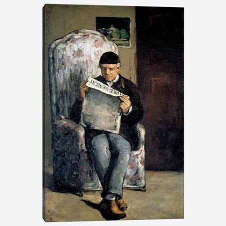 The Artist's Father (Reading L'Evenement) 1866 Canvas Print #1078} by Paul Cezanne Canvas Print