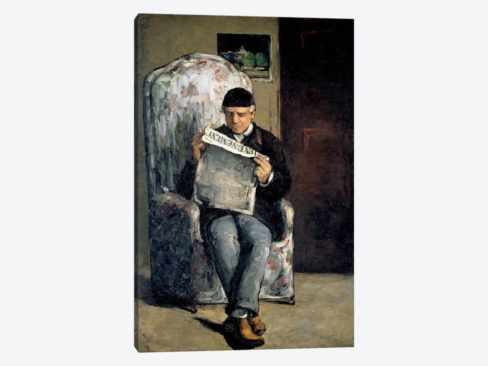 The Artist's Father (Reading L'Evenement) 1866 by Paul Cezanne 1-piece Art Print