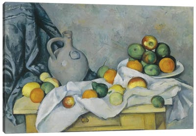 Curtain, Jug and Fruit Bowl (Rideau, Cruchon et Compotier), c. 1893-1894 Canvas Art Print