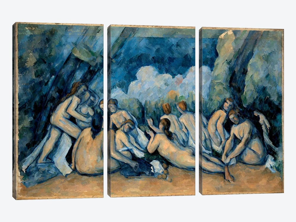 The Bathers by Paul Cezanne 3-piece Canvas Artwork