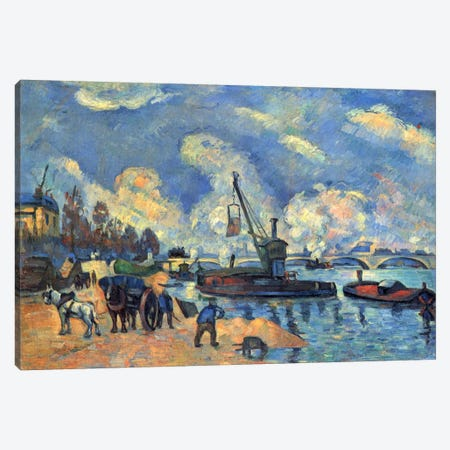 Seine At Bercy Canvas Print #1081} by Paul Cezanne Canvas Art