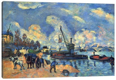 Seine At Bercy Canvas Print #1081