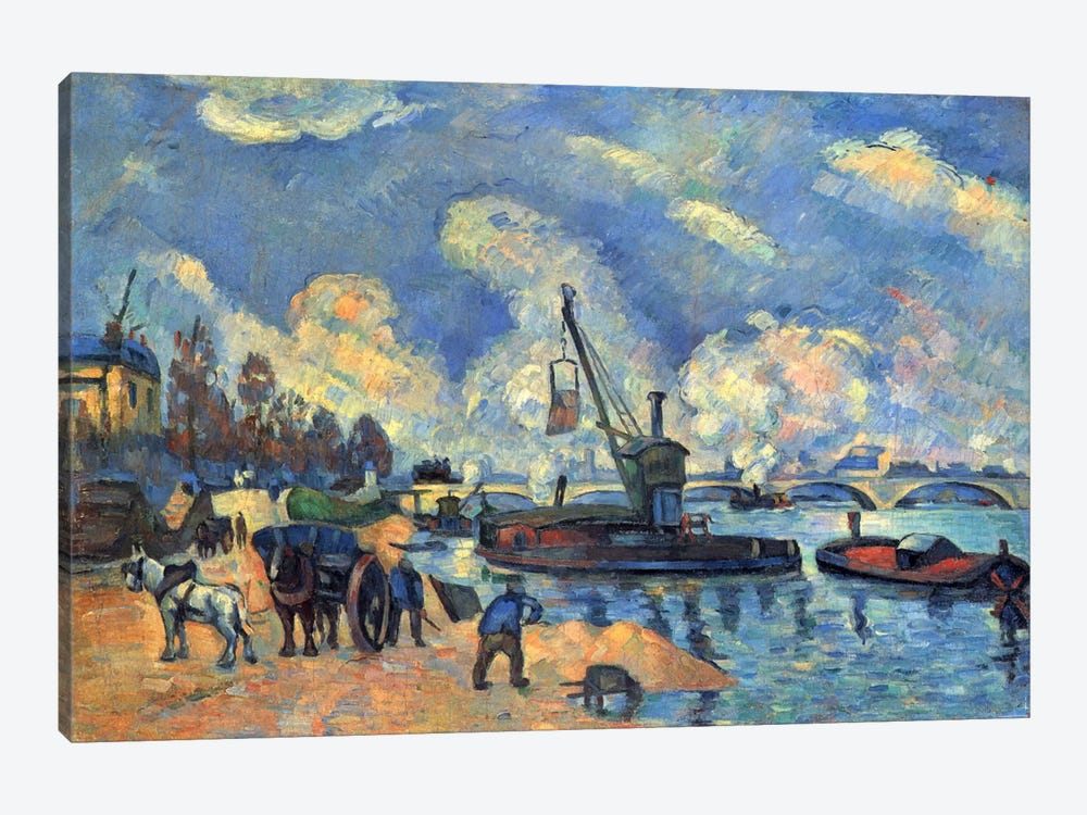 Seine At Bercy by Paul Cezanne 1-piece Art Print