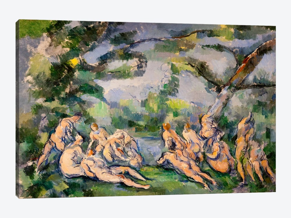 Bathers 1 by Paul Cezanne 1-piece Canvas Artwork