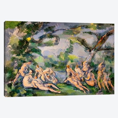 Bathers 1 Canvas Print #1082} by Paul Cezanne Canvas Art