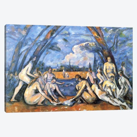 Bathers 2 Canvas Print #1083} by Paul Cezanne Canvas Art
