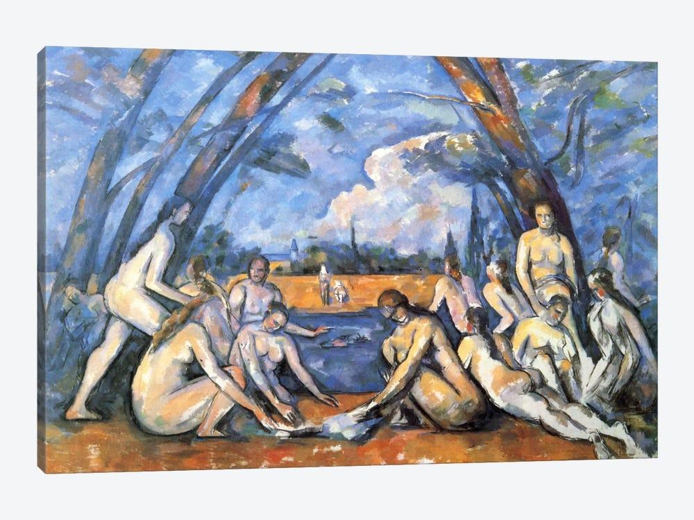 Bathers 2 by Paul Cezanne 1-piece Canvas Print