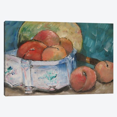 Fruit Bowl Canvas Print #1084} by Paul Cezanne Canvas Print